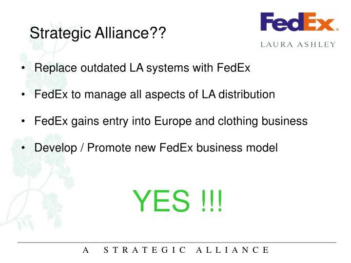 Strategic Alliance??