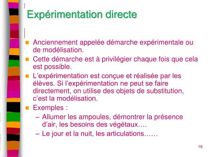 Expérimentation