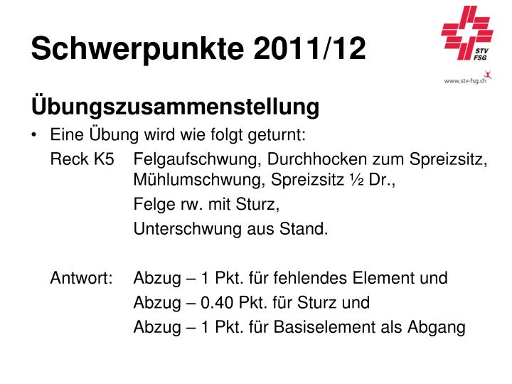 Schwerpunkte 2011/12