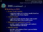 dss continued