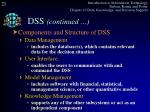 dss continued6