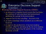 enterprise decision support continues2