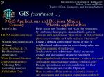 gis continued