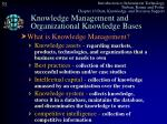 knowledge management and organizational knowledge bases