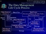 the data management life cycle process