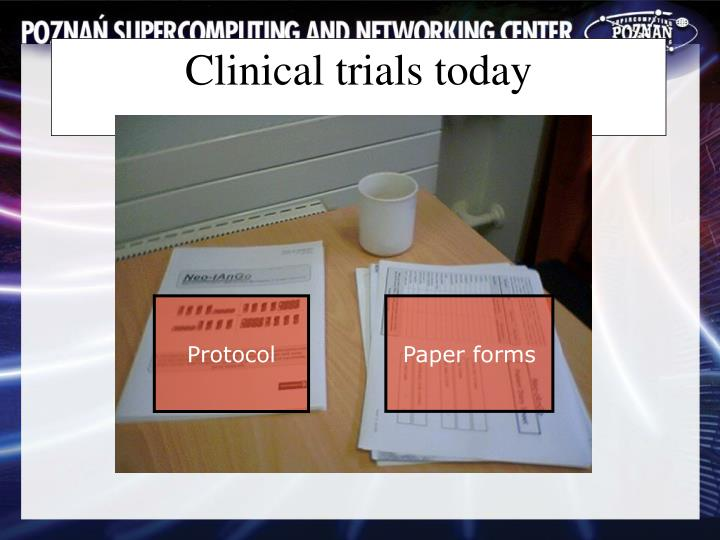 Clinical trials today