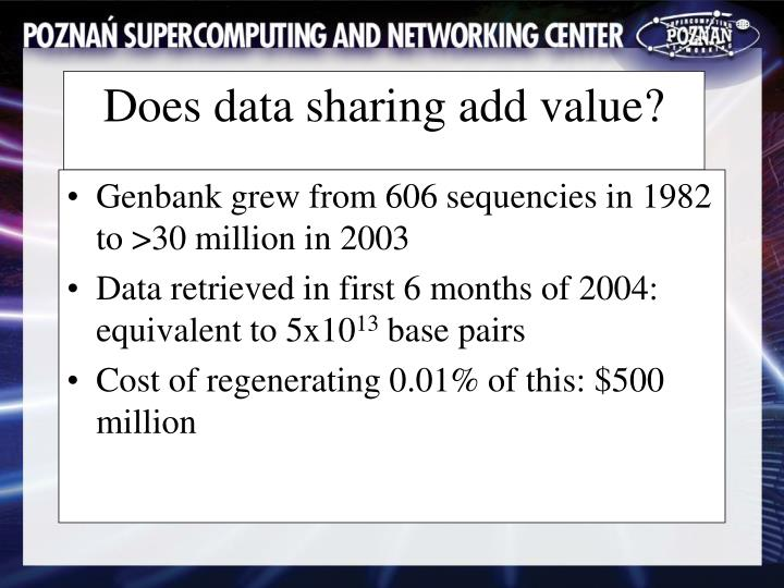 Genbank grew from 606 sequencies in 1982 to >30 million in 2003