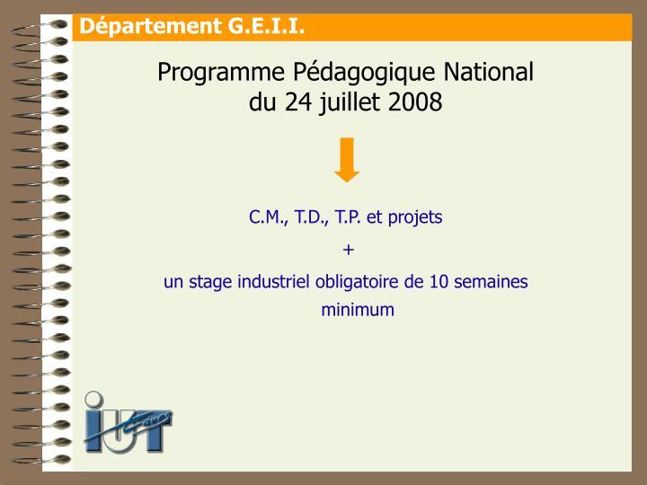 Programme Pédagogique National