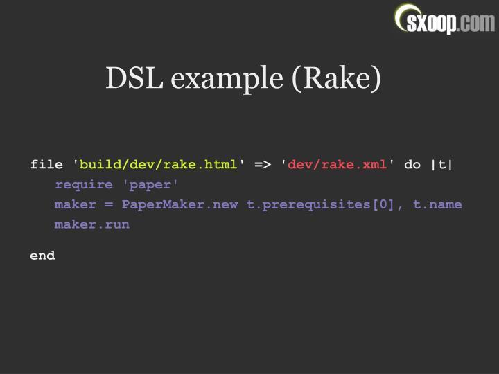 DSL example (Rake)