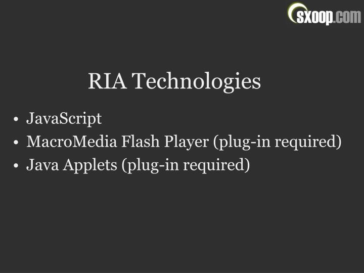RIA Technologies