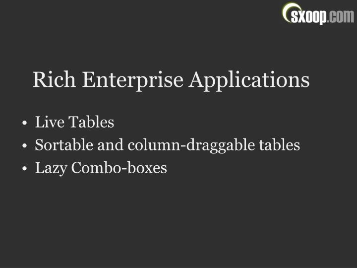 Rich Enterprise Applications