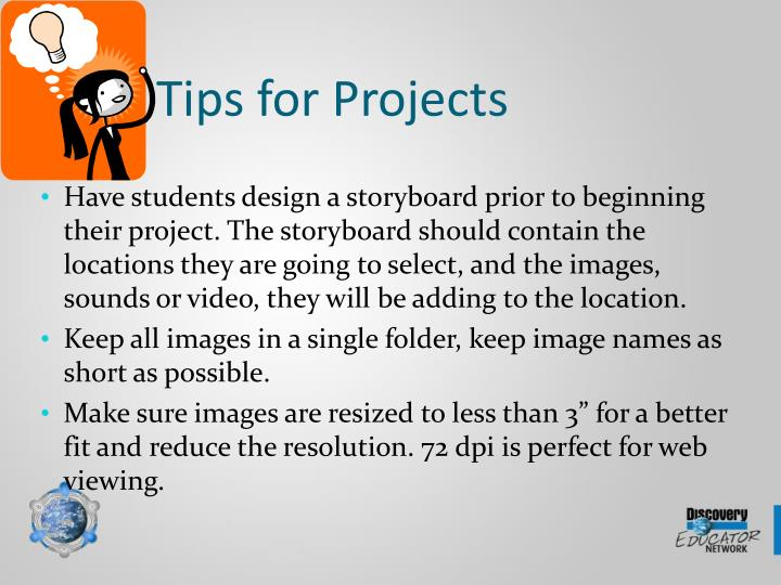 Tips for Projects