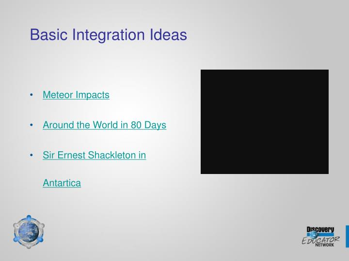 Basic Integration Ideas