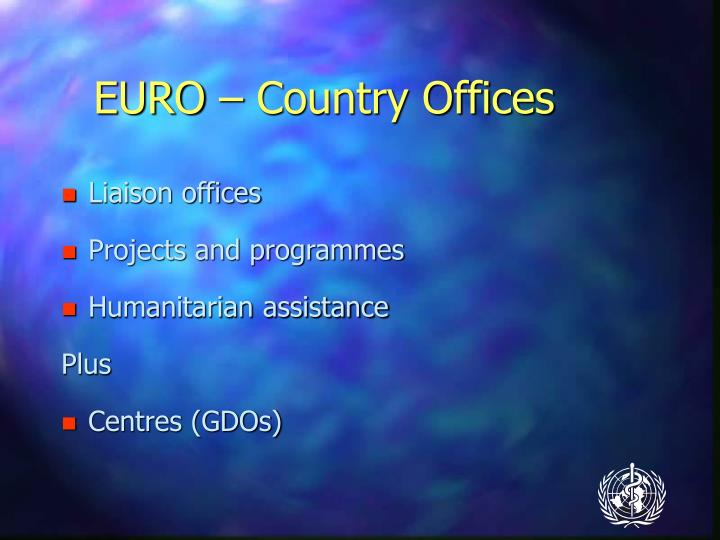 EURO – Country Offices
