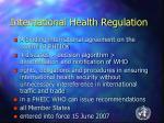 international health regulation