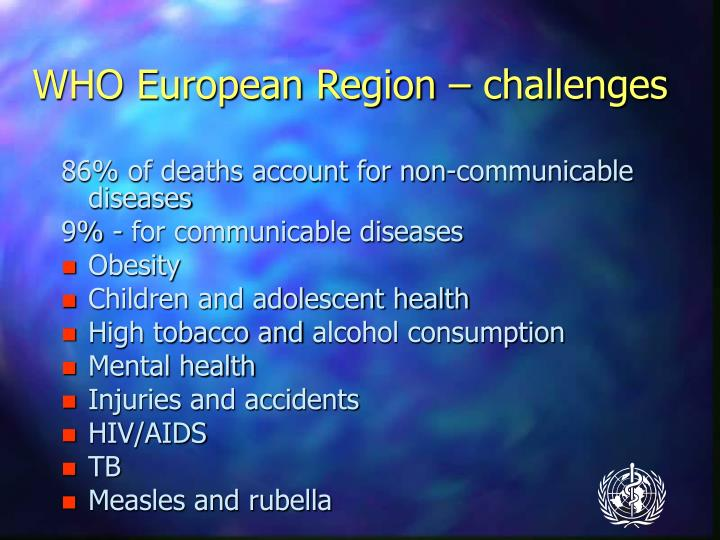 WHO European Region – challenges