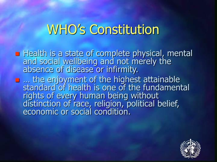 WHO's Constitution