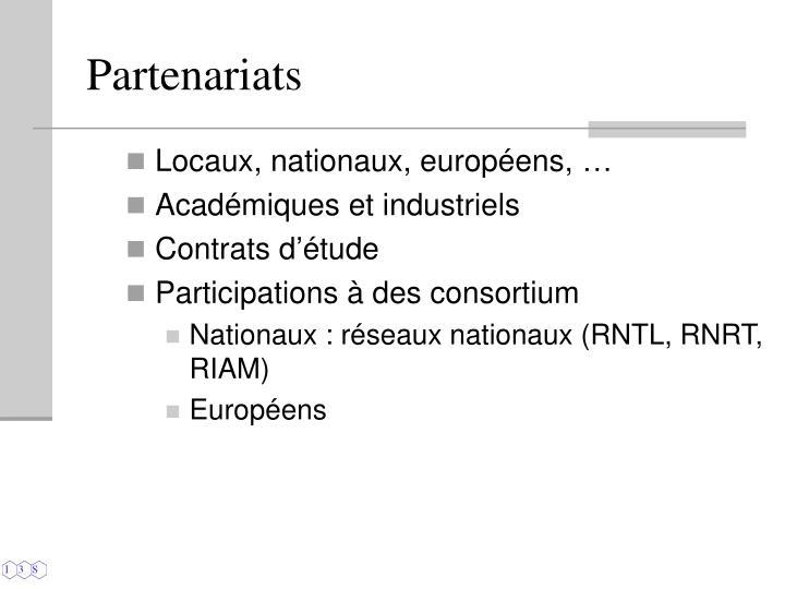 Locaux, nationaux, européens, …