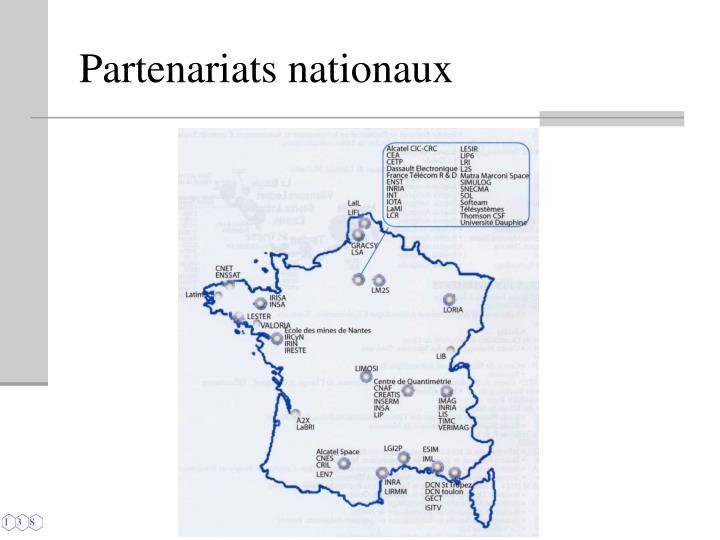 Partenariats nationaux