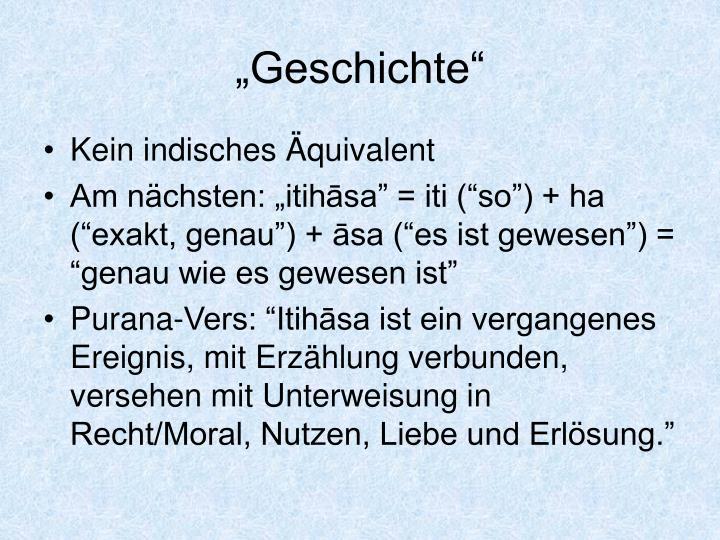 """Geschichte"""