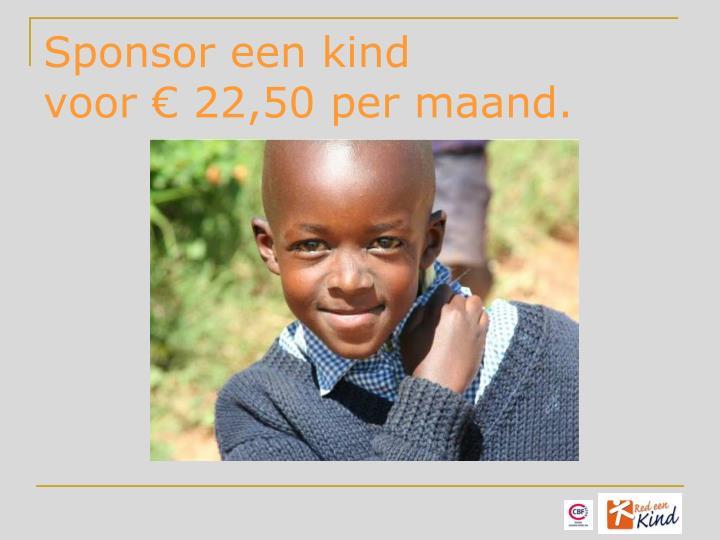 Sponsor een kind