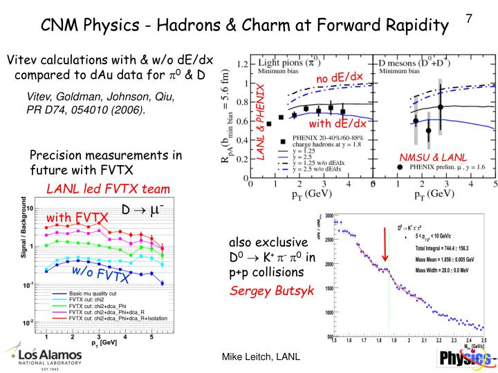 CNM Physics - Hadrons & Charm at Forward Rapidity