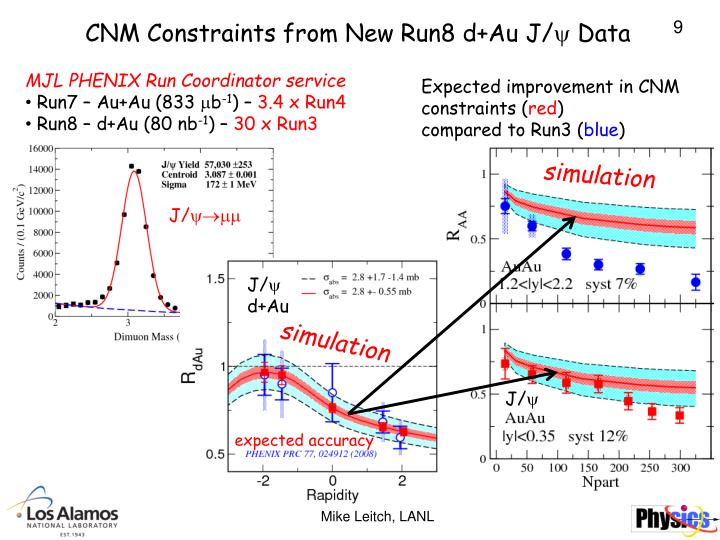 CNM Constraints from New Run8 d+Au J/ Data