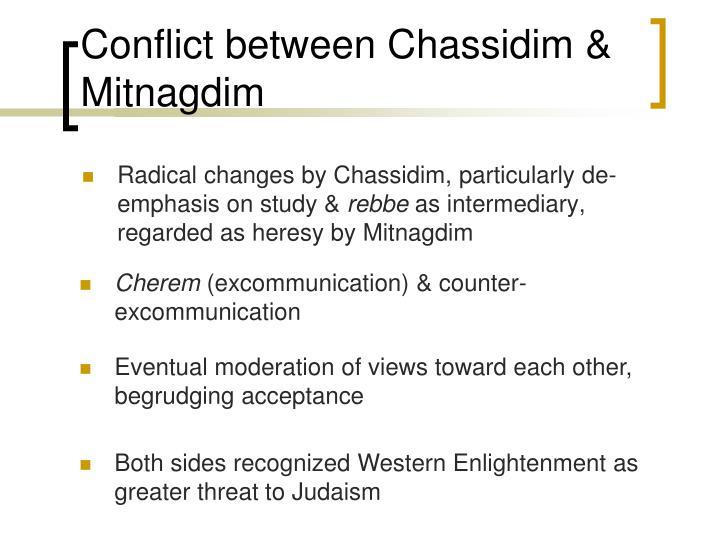 Conflict between Chassidim & Mitnagdim