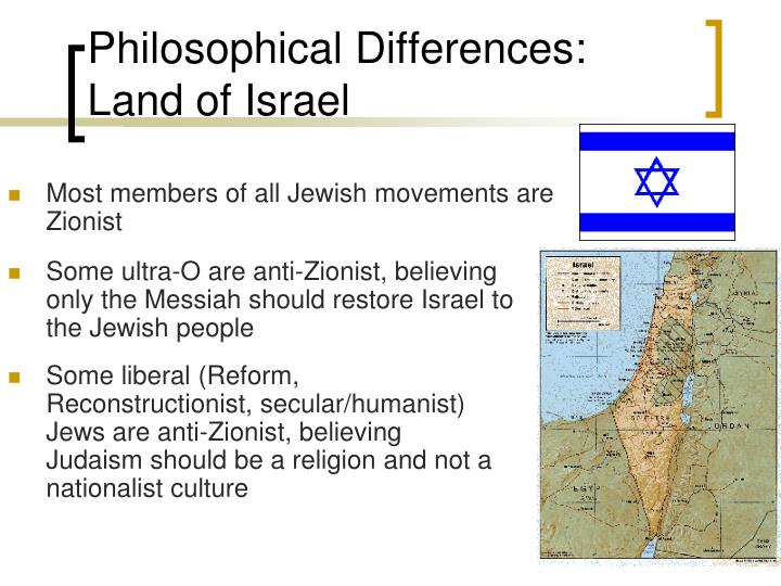 Philosophical Differences: Land of Israel