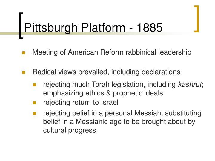 Pittsburgh Platform - 1885