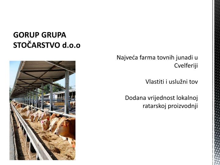 GORUP GRUPA STOČARSTVO d.o.o