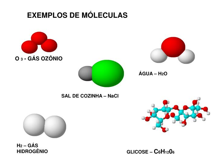 EXEMPLOS DE MÓLECULAS