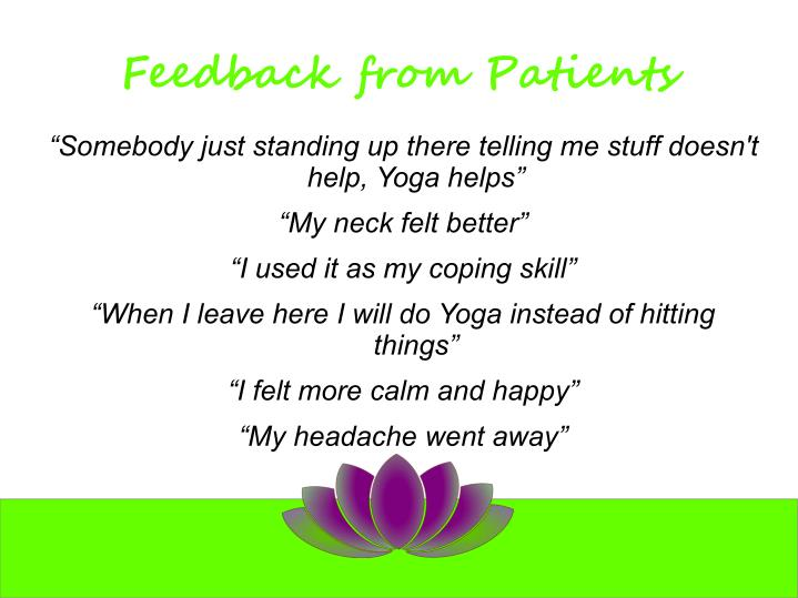 Feedback from Patients