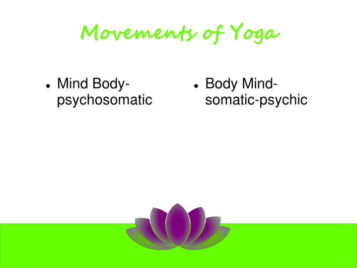 Movements of Yoga