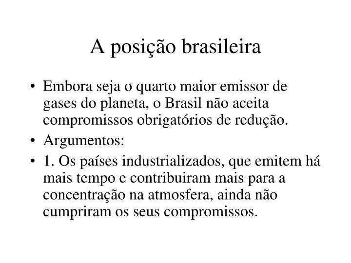A posição brasileira