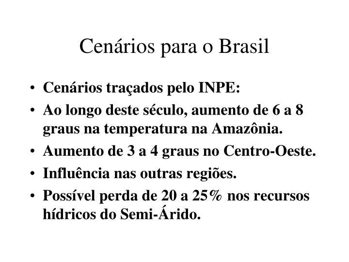 Cenários para o Brasil