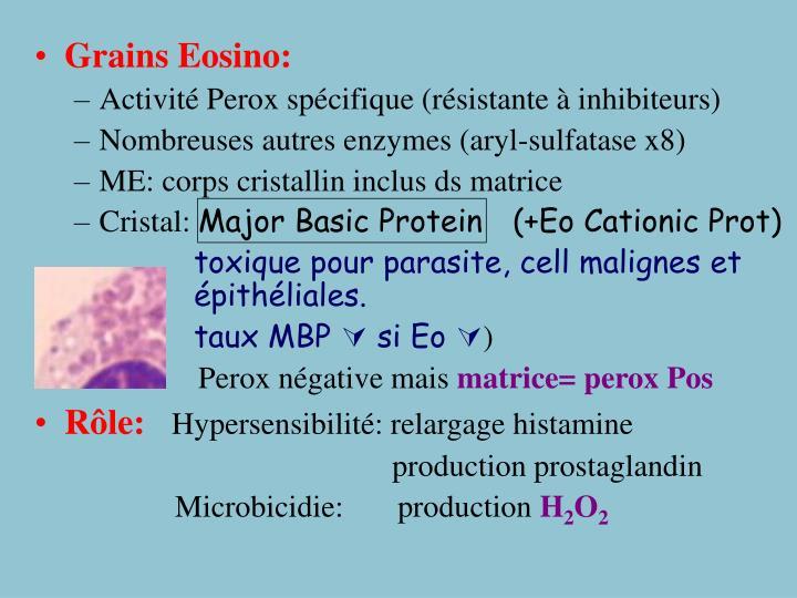Grains Eosino: