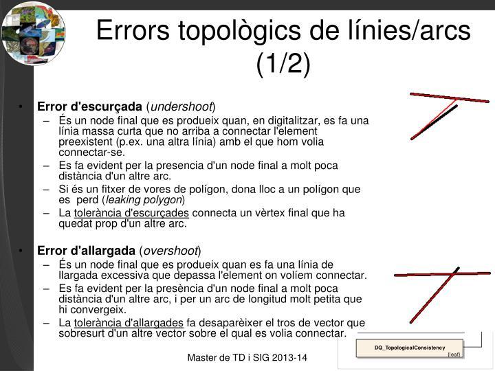 Errors topològics de línies/arcs (1/2)
