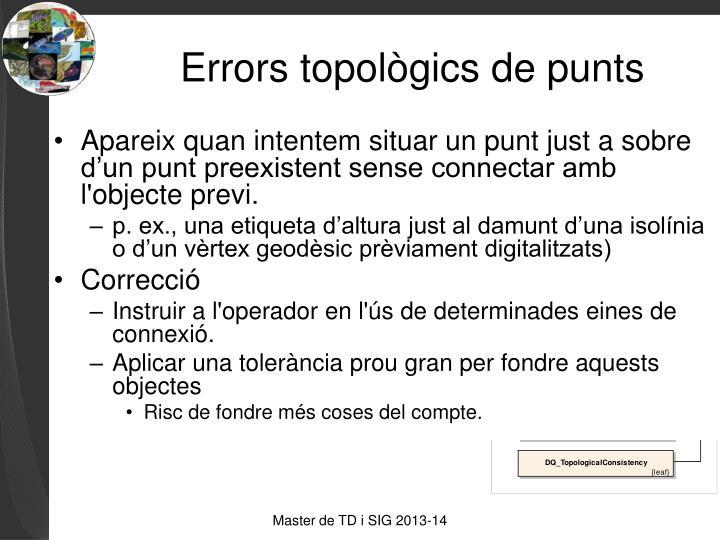 Errors topològics de punts