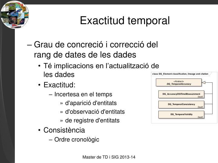 Exactitud temporal