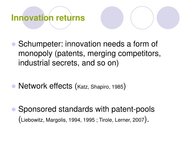 Innovation returns
