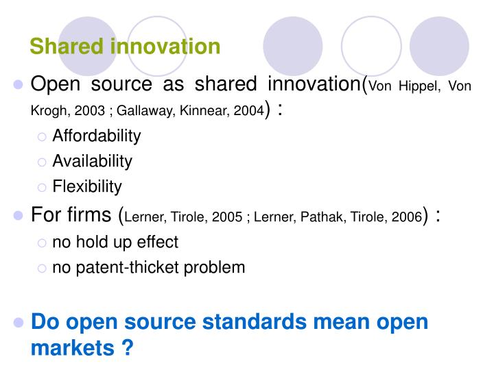 Shared innovation