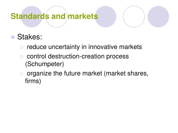 Standards and markets