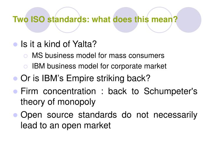 Two ISO standards: what does this mean?