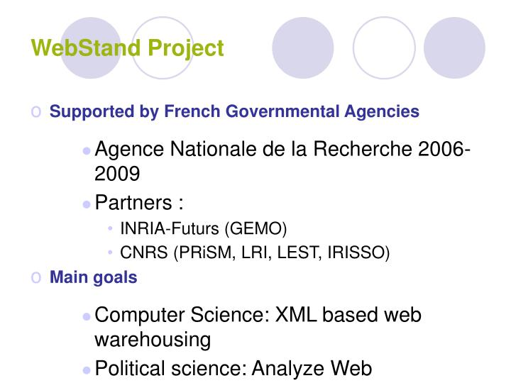 Webstand project