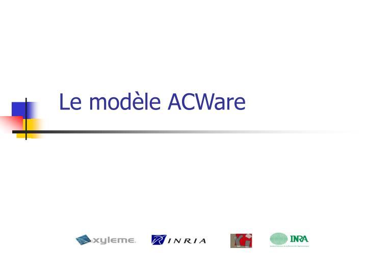 Le modèle ACWare