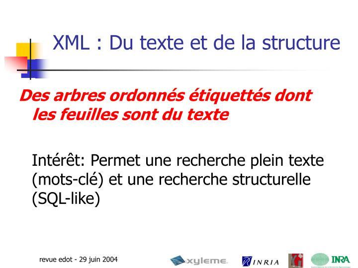 XML : Du texte et de la structure