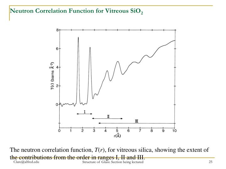 Neutron Correlation Function for Vitreous SiO