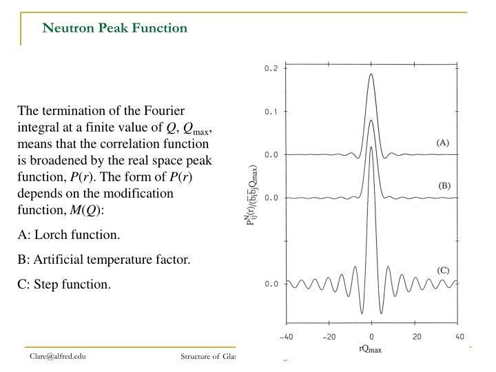 Neutron Peak Function