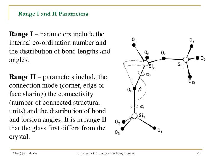 Range I and II Parameters